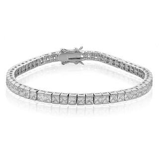 ICZ Stonez Silvertone 27 1/2ct TGW Cubic Zirconia Bracelet