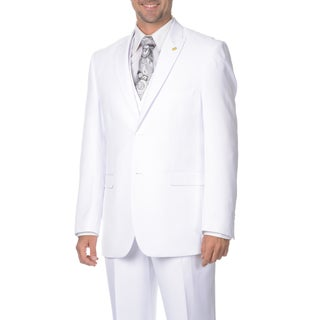 Falcone Men's 3-piece Vested Pleated Suit (More options available)