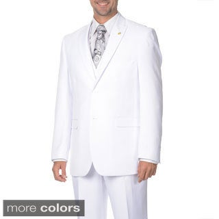 Falcone Men's 3-piece Vested Pleated Suit