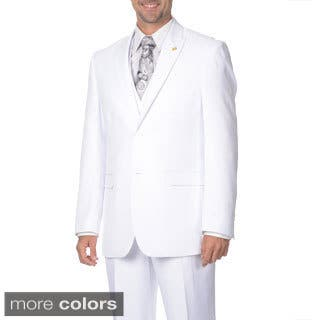Falcone Men's 3-piece Vested Pleated Suit (Option: White)|https://ak1.ostkcdn.com/images/products/9693145/P16871050.jpg?impolicy=medium