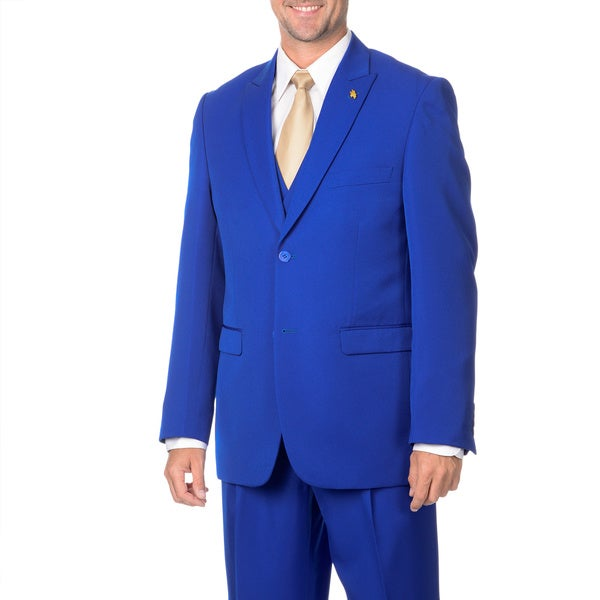 Falcone Mens 3-piece Handsome Vested Suit