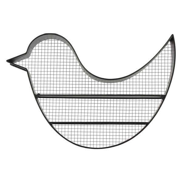 Shop Black Metal Bird Wall Shelf Free Shipping Today Overstock