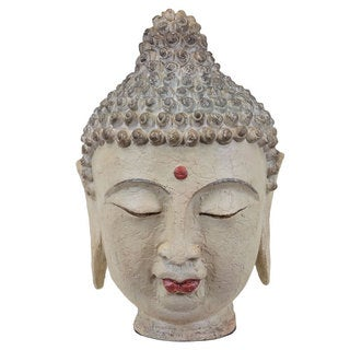 Cream Resin Buddha Head