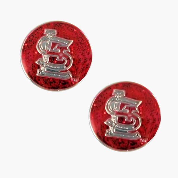 St. Louis Cardinals Glitter Post Stud Earrings