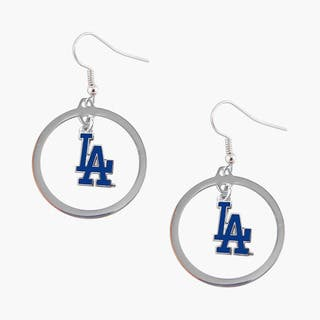 Los Angeles Dodgers Hoop Logo Earring Set|https://ak1.ostkcdn.com/images/products/9693350/P16871134.jpg?impolicy=medium