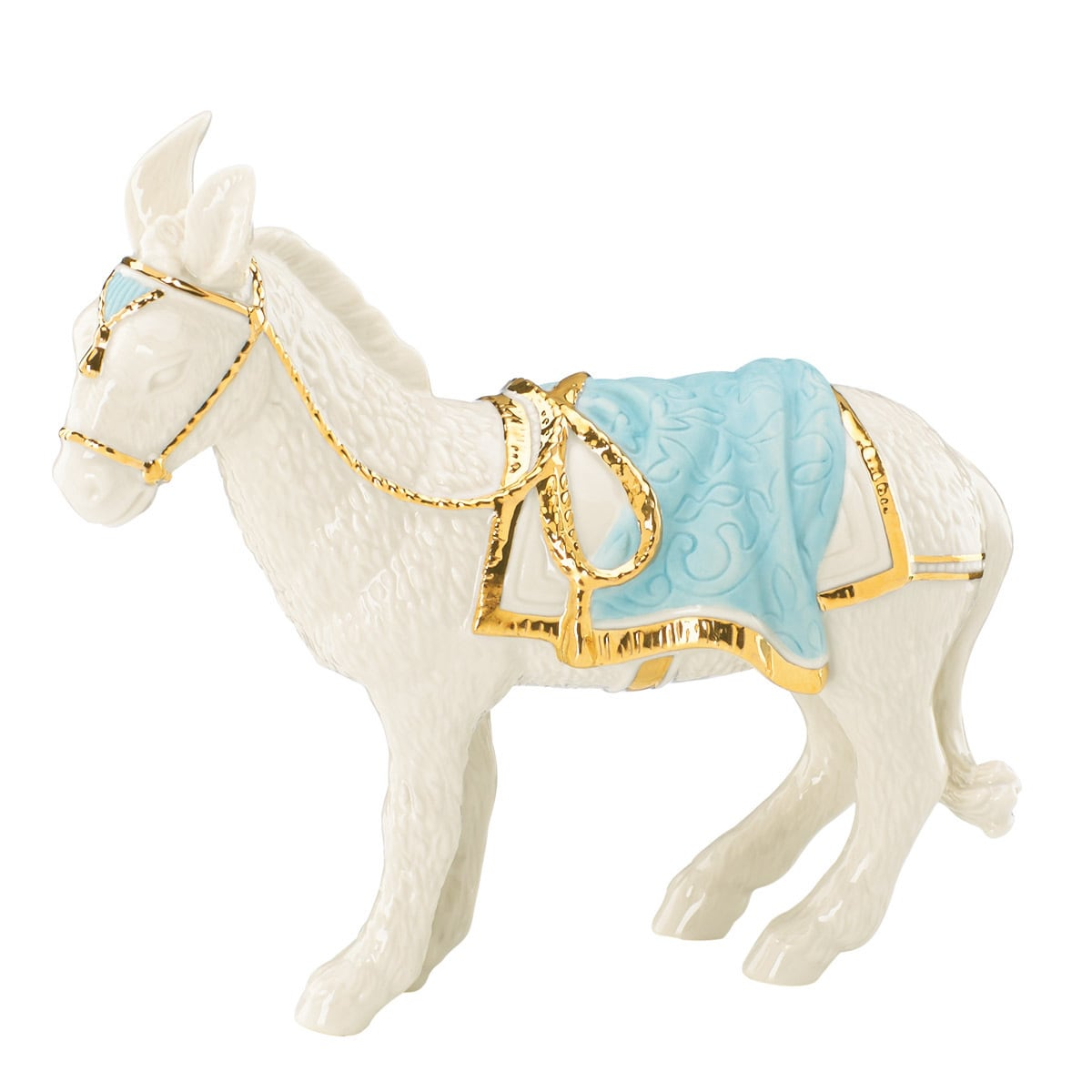 Lenox First Blessings Donkey Figurine (Ivory), White (Gold)