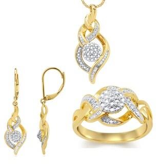 Divina Fashion 1/ 10ct TDW Diamond 3-piece Jewelry Set (I-J, I2-I3)