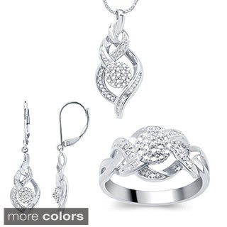 Divina Fashion 1/ 10ct TDW Diamond 3-piece Jewelry Set (I-J, I2-I3)