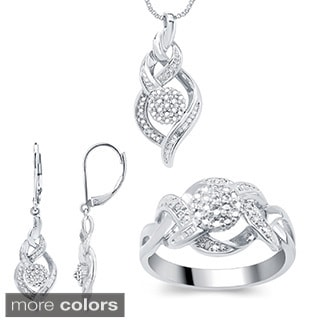 Divina Fashion Diamond 3-piece Jewelry Set