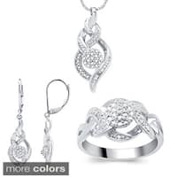 Divina Fashion 1/ 10ct TDW Diamond 3-piece Jewelry Set