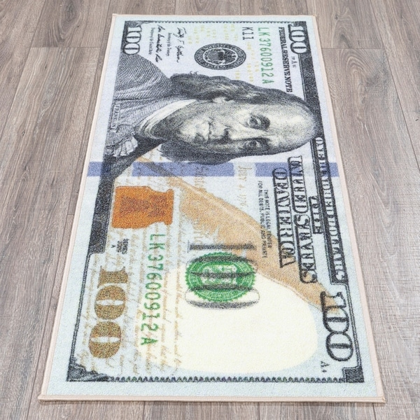 Ottomanson Siesta 100 Dollar Bill Design Runner or Area Rug
