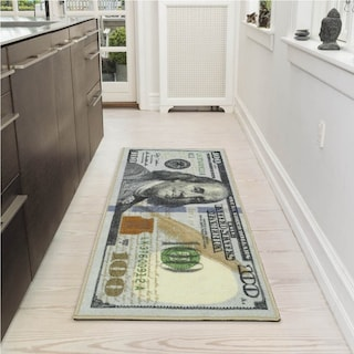 Ottomanson Siesta Collection 100 Dollar Bill Design Ru