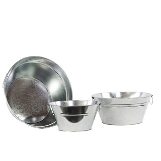Zinc Metal Bucket (Set of 3)