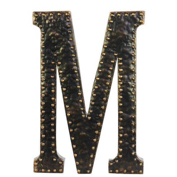 Shop Black Metal Letter M Wall Decor