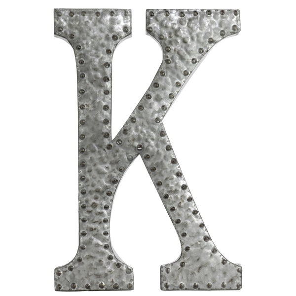 Wall Decor Letter K : Zinc metal letter k wall decor free shipping on orders