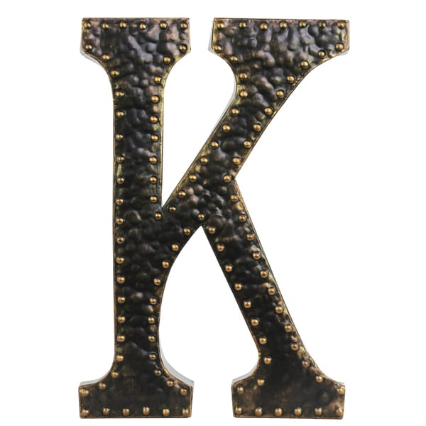 Shop Black Metal Letter K Wall Decor Free Shipping On