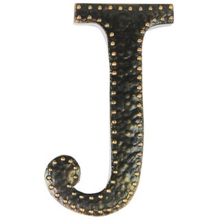 Black Metal Letter J Wall Decor