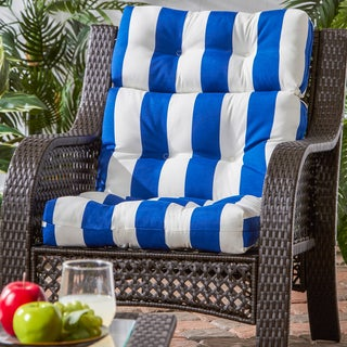 Havenside Home San Elijo Polyester Cabana Striped High-back Chair Cushion