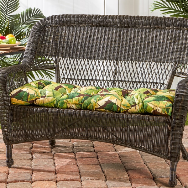 Polyester palm leaf design swing bench cushion free shipping on orders over 45 overstock Home goods palm beach gardens