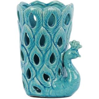 Turquoise Ceramic Peacock