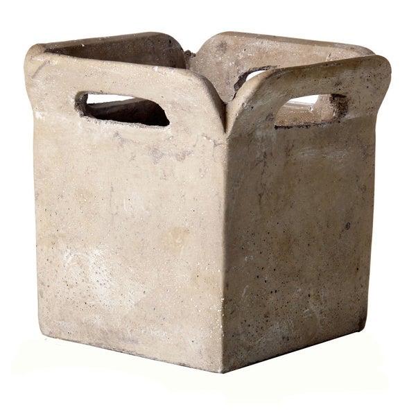 Cement Brown Bag Planter