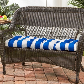 Polyester Cabana Stripe Outdoor Swing/ Bench Cushion