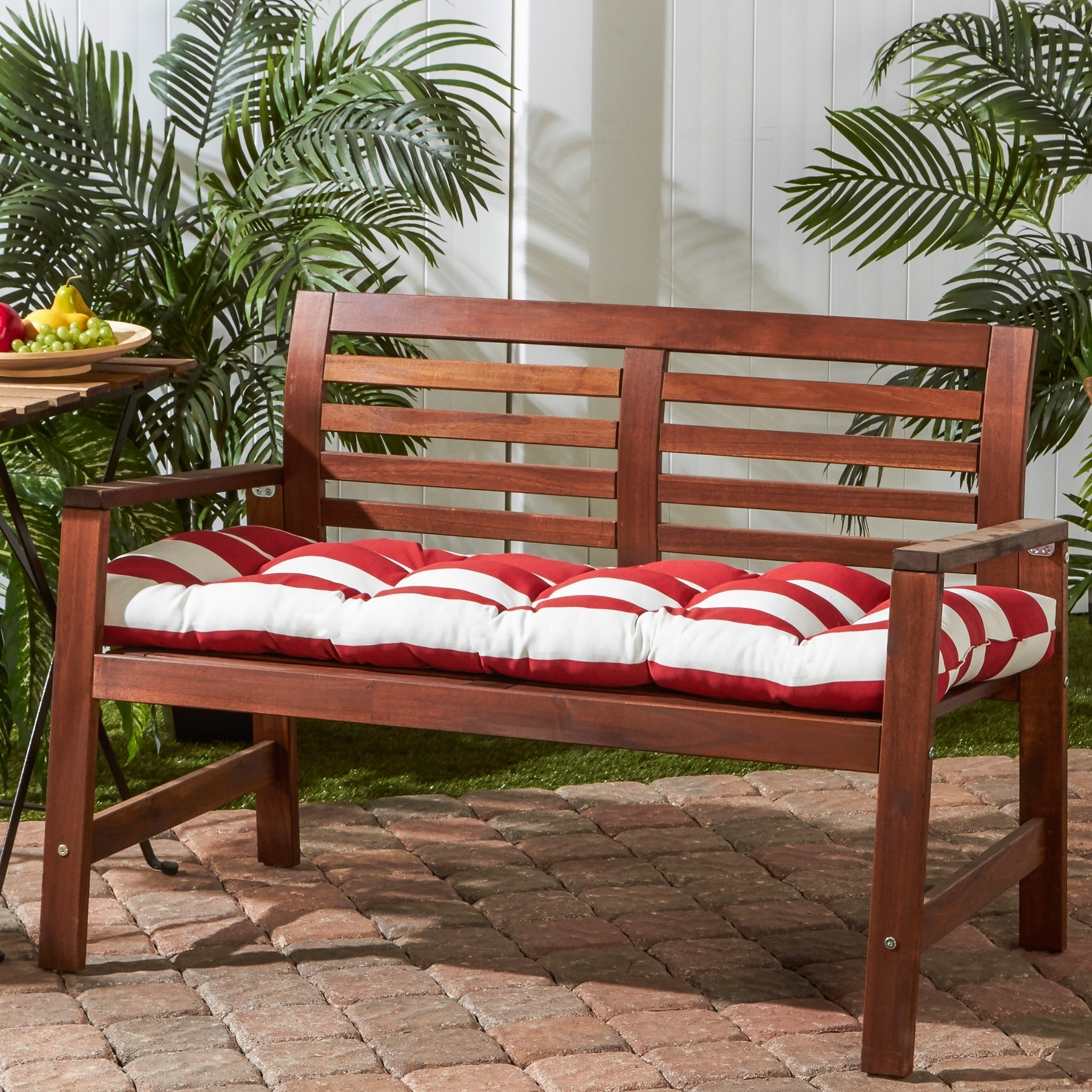 Outdoor Cabana Stripe Bench Cushion