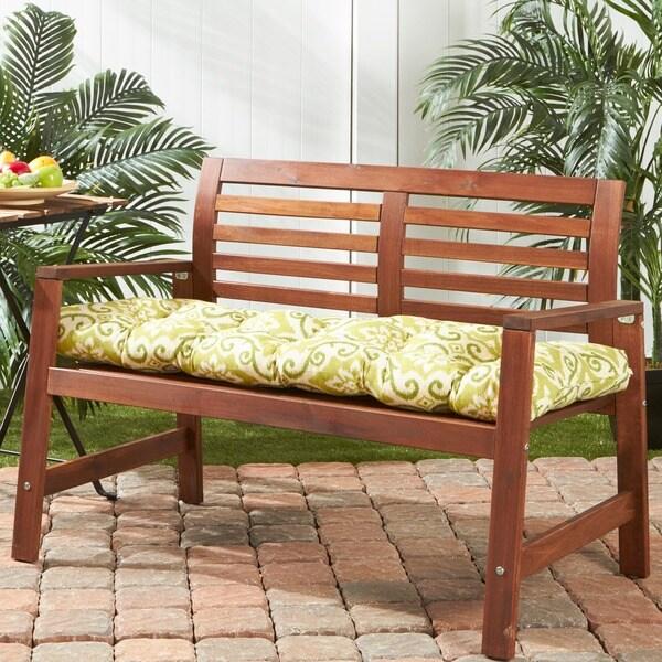 Green Ikat 51 inch Outdoor Bench Cushion Free Shipping
