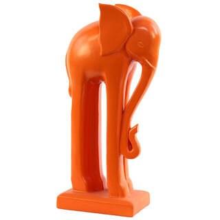 Ceramic Orange Elephant Statue