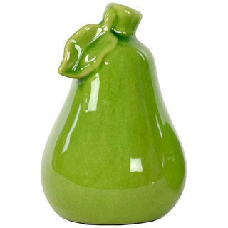 Yellow Green Ceramic Pear