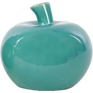 Turquoise Ceramic Apple