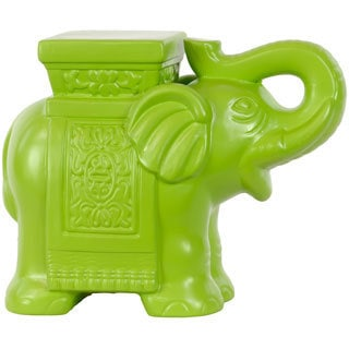 Green Ceramic Elephant