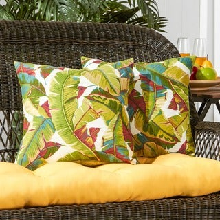 Greendale home fashions palm leaves outdoor accent pillow set of 2 17w x 17l free shipping Home goods palm beach gardens
