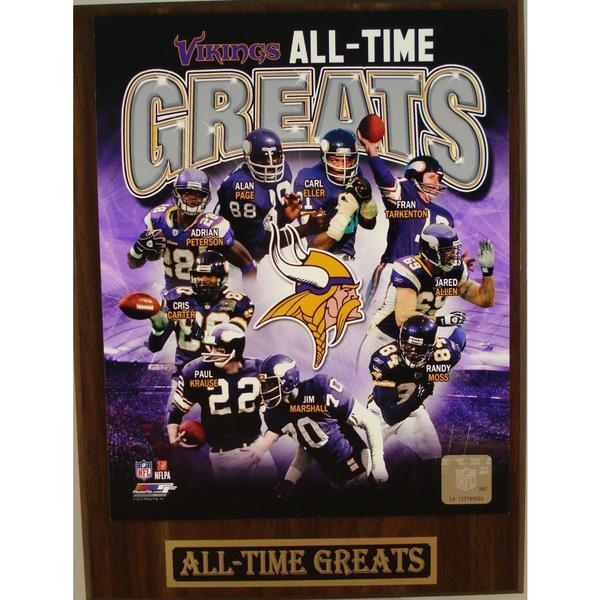 Minnesota Vikings All Time Greats Plaque