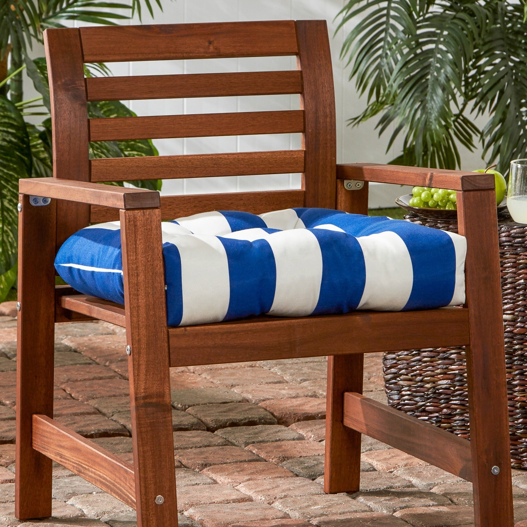 Shop Greendale Home Fashions Cabana Stripe 20 Inch Outdoor Chair