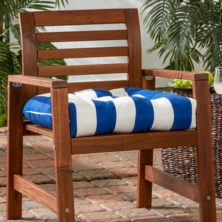 Havenside Home San Elijo Cabana Stripe 20-inch Outdoor Chair Cushion