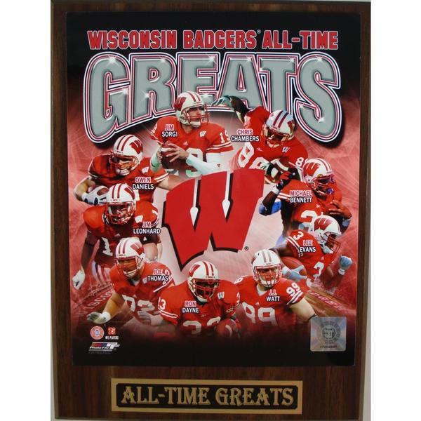 Wisconsin Badgers All Time Greats Plaque