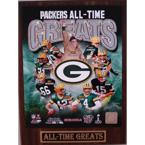 Green Bay Packers All Time Greats Plaque