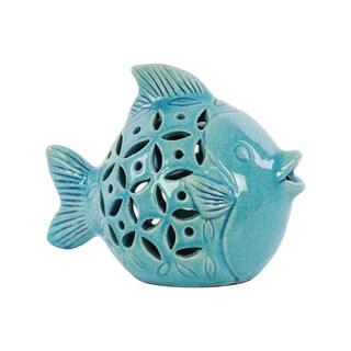 Turquoise Ceramic Fish