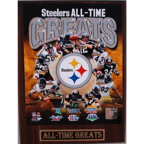 Pittsburgh Steelers All Time Greats Plaque
