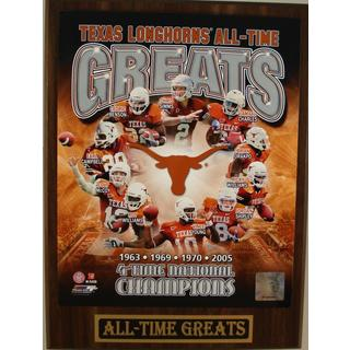 Texas Longhorns All Time Greats Plaque