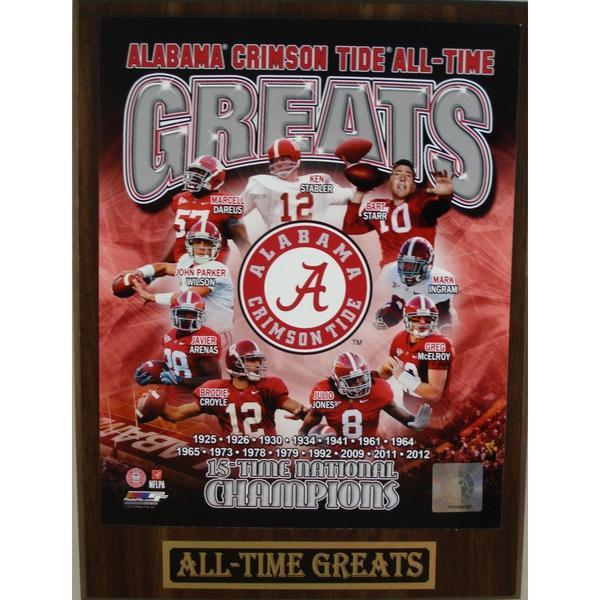 Alabama Crimson Tide All Time Greats Plaque