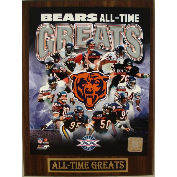 Chicago Bears All Time Greats Plaque