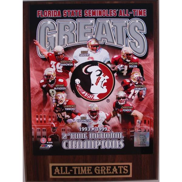 Florida State Seminoles All Time Greats Plaque