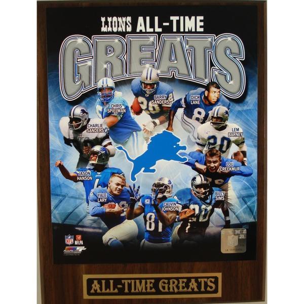 Detroit Lions All Time Greats Plaque