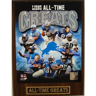 Detroit Lions All Time Greats Plaque