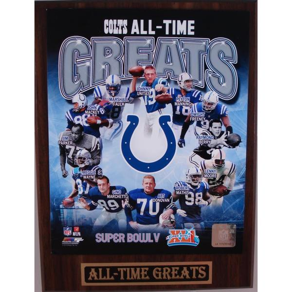 Indianapolis Colts All Time Greats Plaque