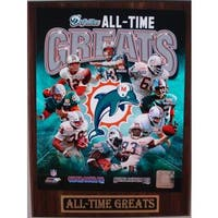 Miami Dolphins All Time Greats Plaque