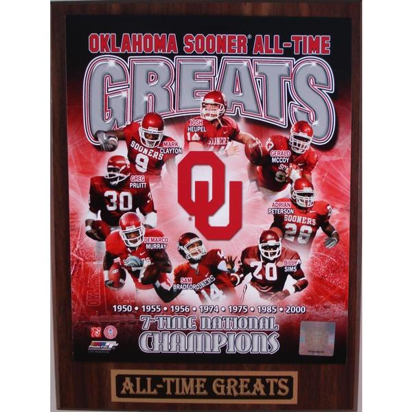 Oklahoma Sooners All Time Greats Plaque