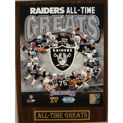 Oakland Raiders All Time Greats Plaque